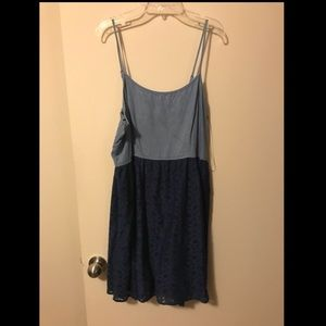 Mossimo Denim and Lace Dress